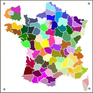 Geo Departements - Carte