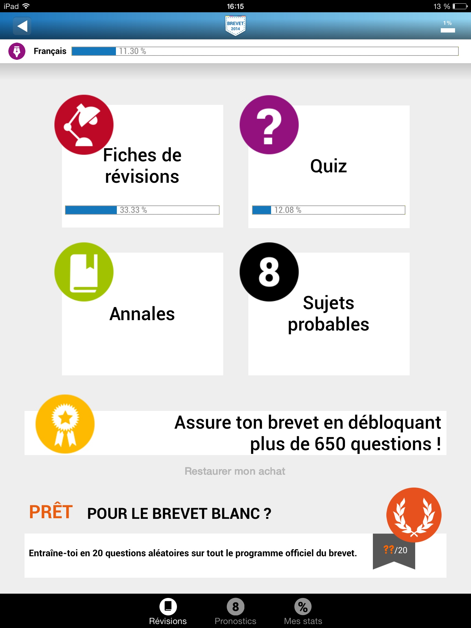 question brevet college