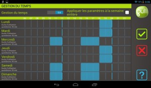 Tablette Gulli - Restriction planning
